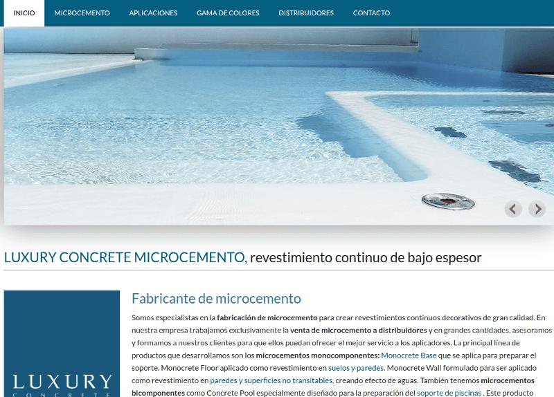Página web de microcemento