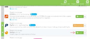 Click en instalar módulo de Redsys