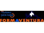 Logotipo de la empresa de turismo activo y deportes Formaventura