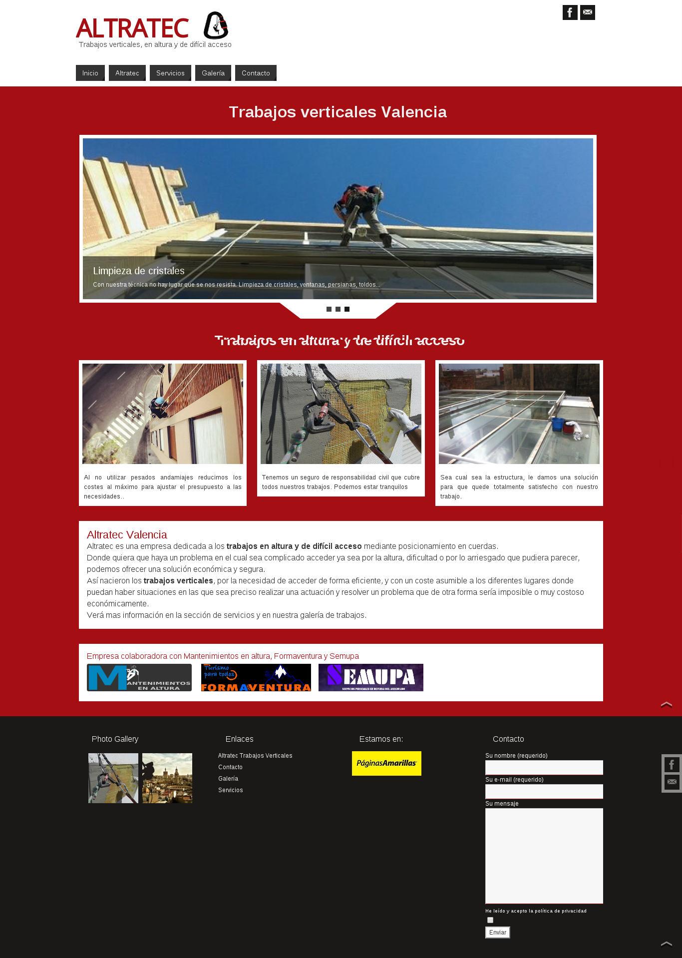 Página web trabajos verticales