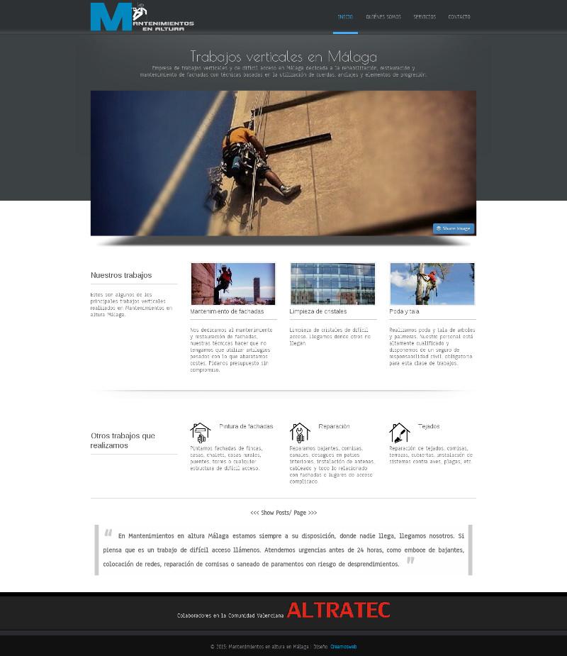 Página web de fotógrafo