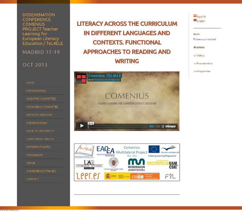Página web de congreso