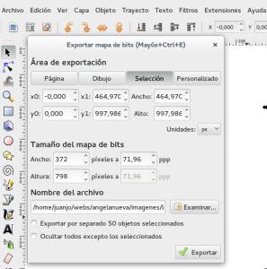 Exportar en Inkscape para optimizar imágenes