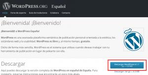 Descargar WordPress para instalar manualmente