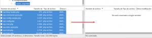 Subir archivos en filezilla