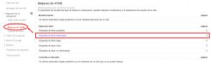 Herramienta de Mejoras HTML de Webmaster tools