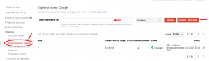 Obtener y procesar una página en Webmaster Tools