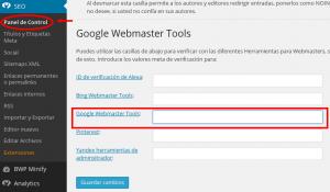 Verificar Webmaster Tools en Yoast