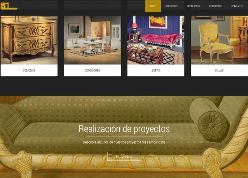 Página web de empresa de muebles
